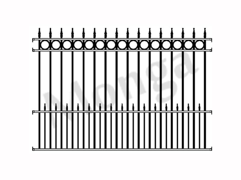 Ornamental wrought iron fence panel manufacturer