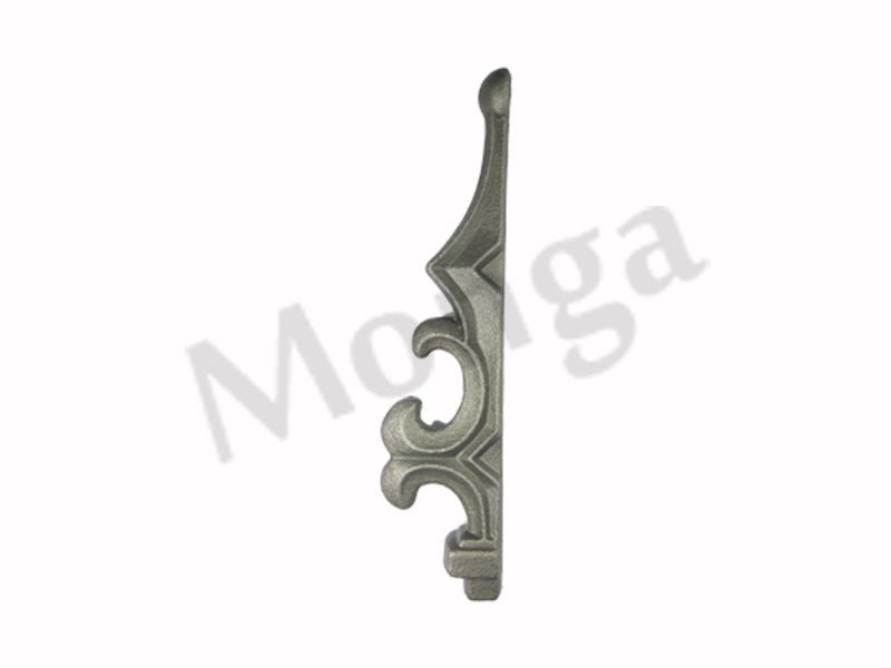 Wrought iron gate tops