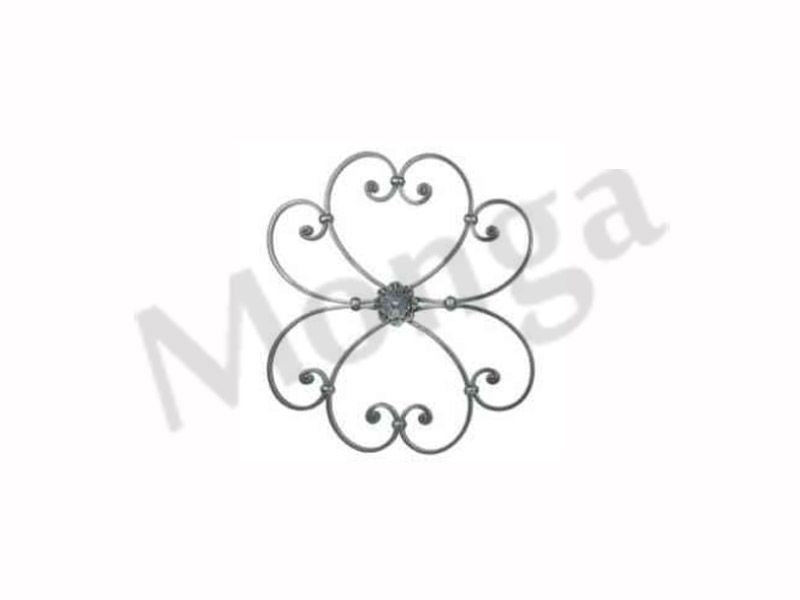 Wrought Iron Rosettes Gate Grill Railings Manufacturer