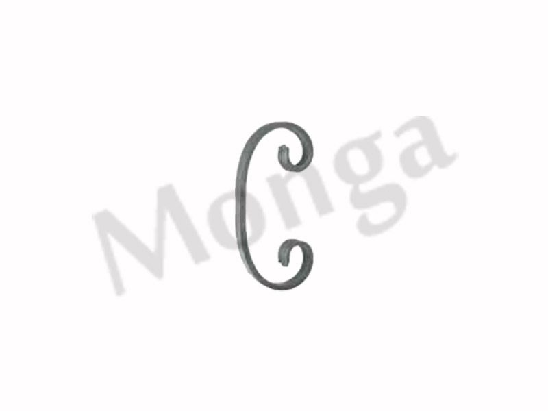 ornamental wrought iron scrolls stair panel for fence gate railing